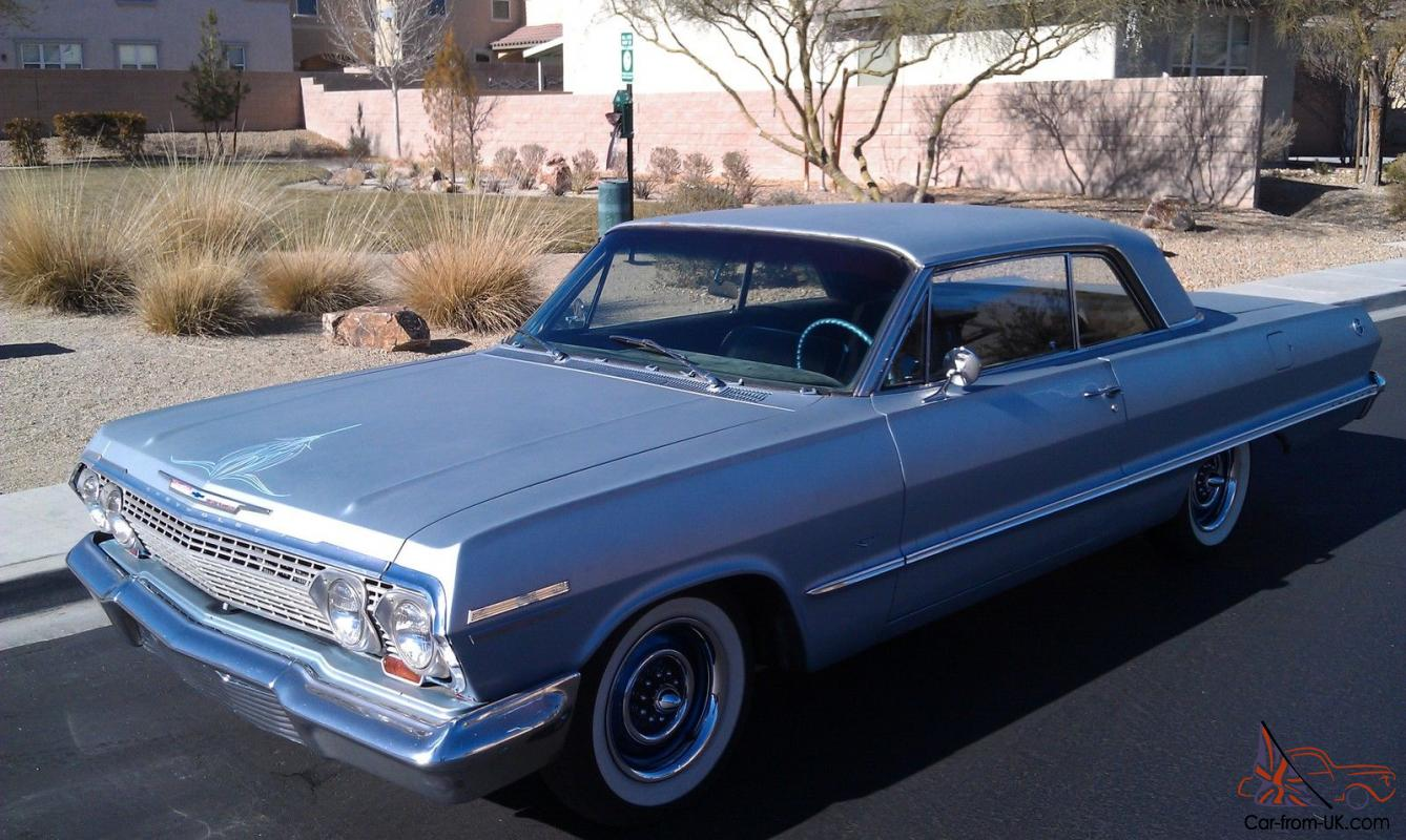 Automatic Cars For Sale Ebay Uk: 1963 Chevrolet Impala 2 Door Coupe Hardtop V8 Automatic