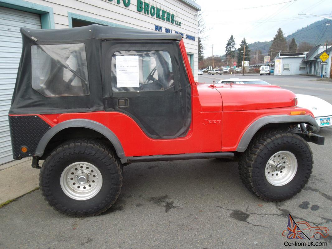 1973 JEEP CJ5 SUV. INLINE 6, 3 SPEED - MANUAL, 4WD, VERY