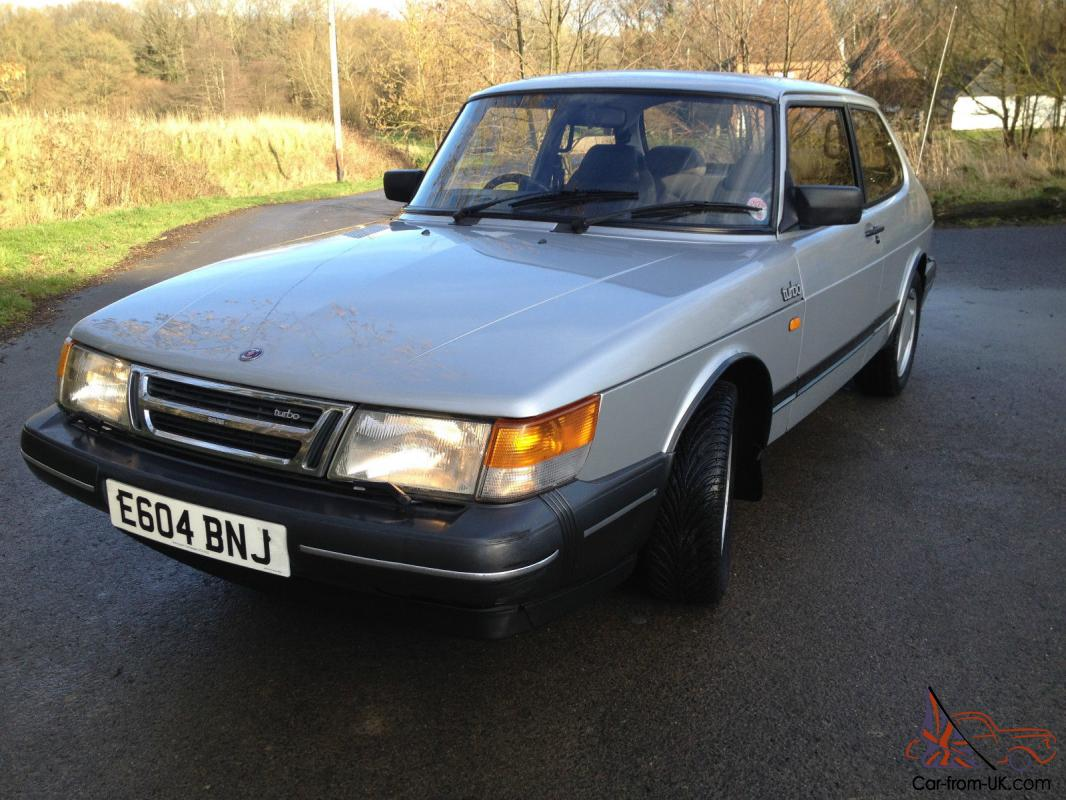 1987 saab 900 turbo 8v 2 door coupe manual silver grey leather tax mot 39 d fsh. Black Bedroom Furniture Sets. Home Design Ideas
