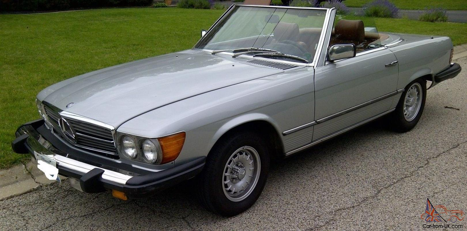 1980 silver mercedes benz 450 sl nice. Black Bedroom Furniture Sets. Home Design Ideas