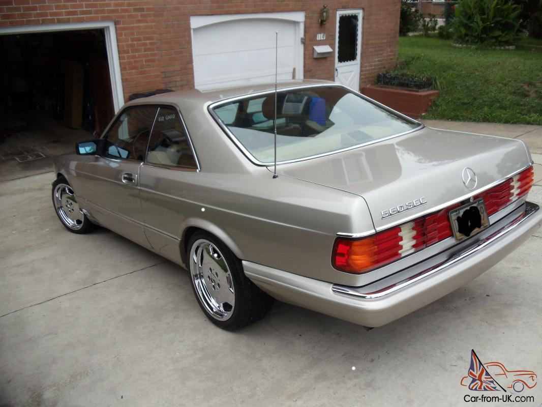 1987 mercedes benz 560sec 2 door coupe for Mercedes benz 2 door coupe for sale
