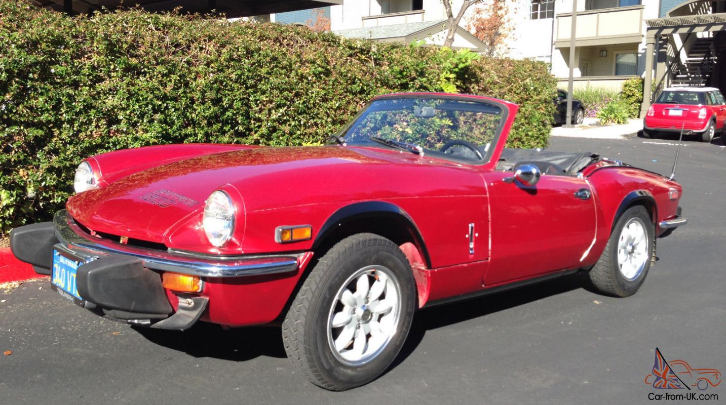 1979 red triumph spitfire 1500 convertible sports car 1493cc extras. Black Bedroom Furniture Sets. Home Design Ideas