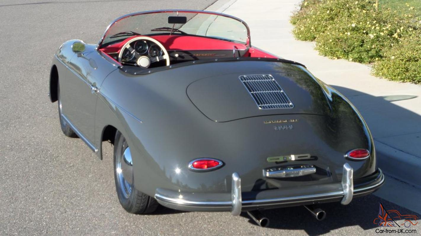 1957 Porsche 356 Vintage Speedster Brand New Slate Grey Red Interior Stunning