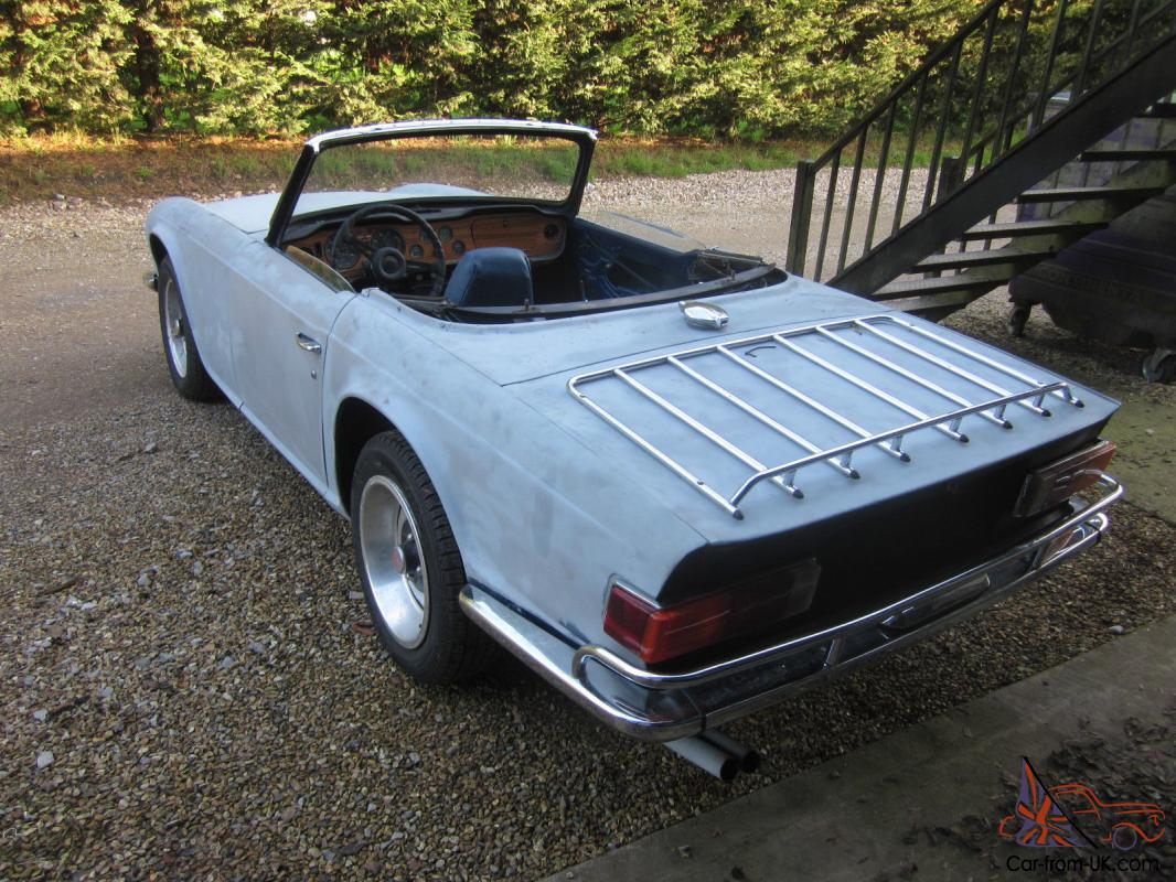 1972 Triumph Tr6 Lhd For Restoration  Car Runs Drives L  K