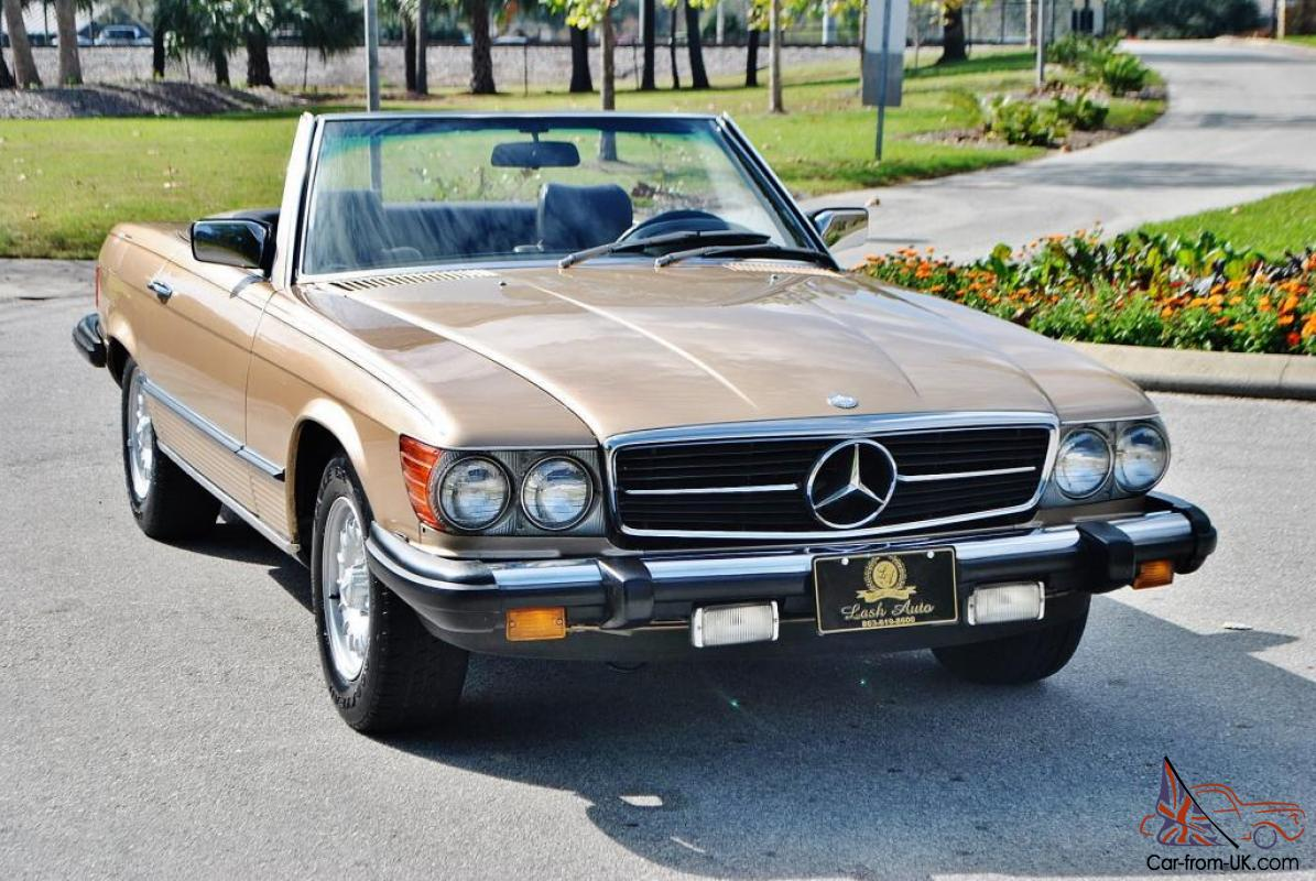 magnificent 1981 mercedes 380 sl convertible just 75 054 miles really no reserve. Black Bedroom Furniture Sets. Home Design Ideas