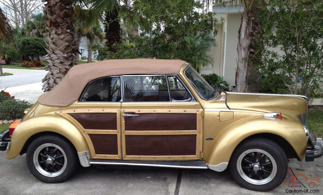 1974 Volkswagen Convertible 1940 Ford Look Wood Trim Disc Brakes New Top Tires