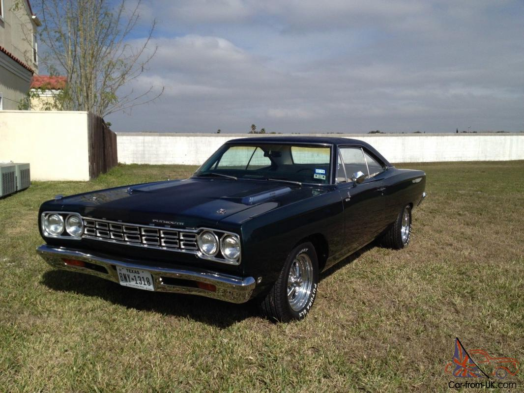 1968 plymouth road runner no reserve 440ci hurst 4 speed. Black Bedroom Furniture Sets. Home Design Ideas