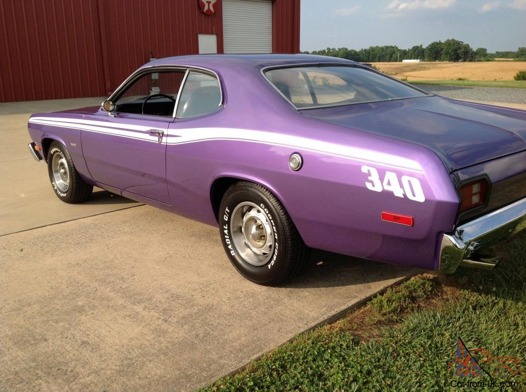 1973 Plymouth Duster 340 4speed Muscle Car Plum Crazy Purple