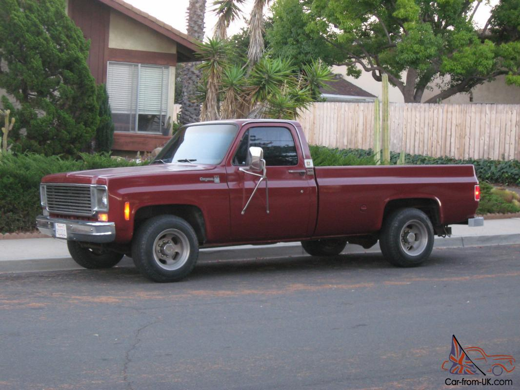 1977 chevrolet c20 pickup truck 3 4 ton 454 91 100 miles th400 chevy gmc. Black Bedroom Furniture Sets. Home Design Ideas