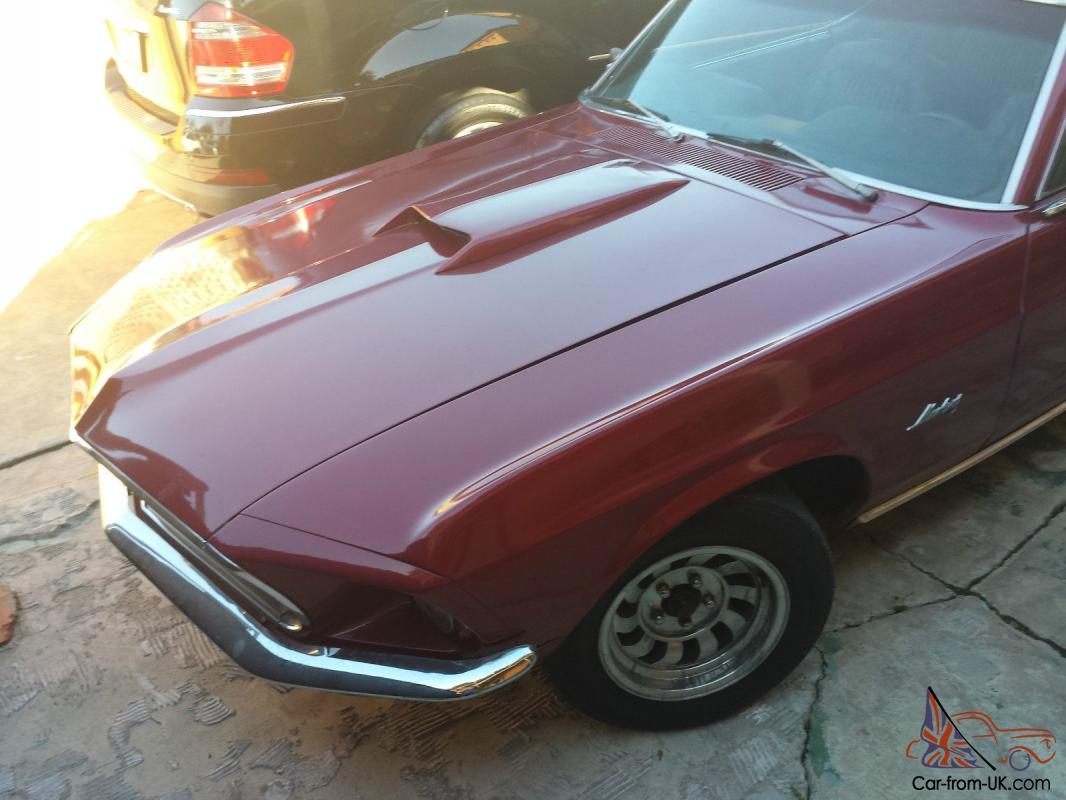 1969 red ford mustang 5 372 miles new engine. Black Bedroom Furniture Sets. Home Design Ideas