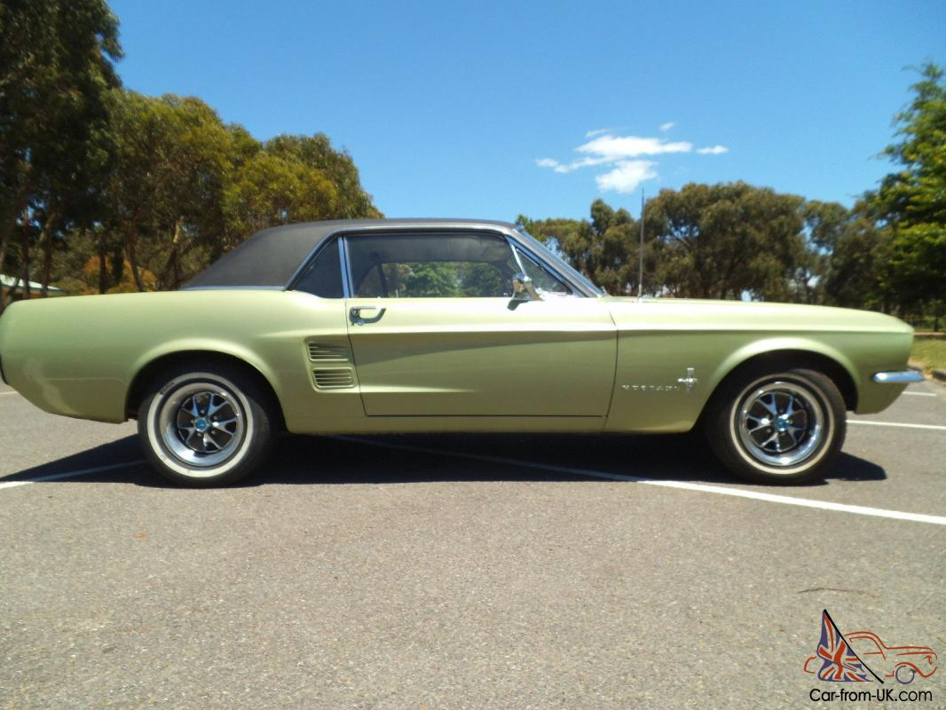 Ford mustang coupe 1967 cali black plate car 289 v8 a code deluxe interior in rowville