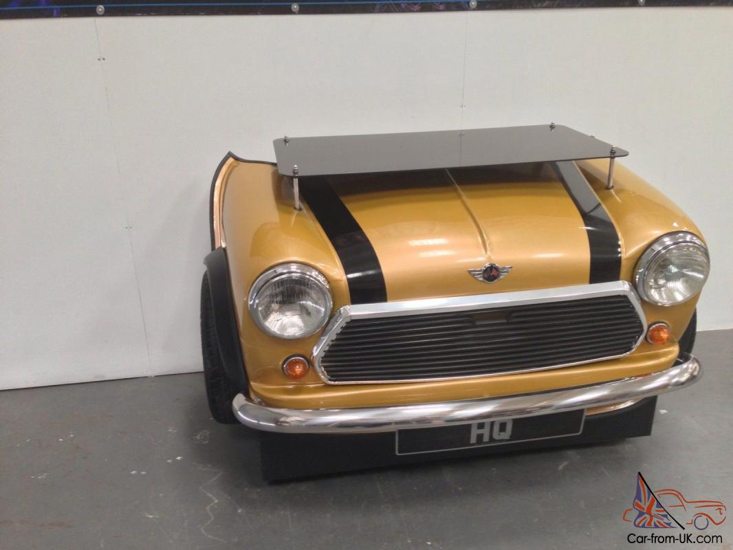 Custom mini cooper desk classic car its furniture made for Furniture made from cars