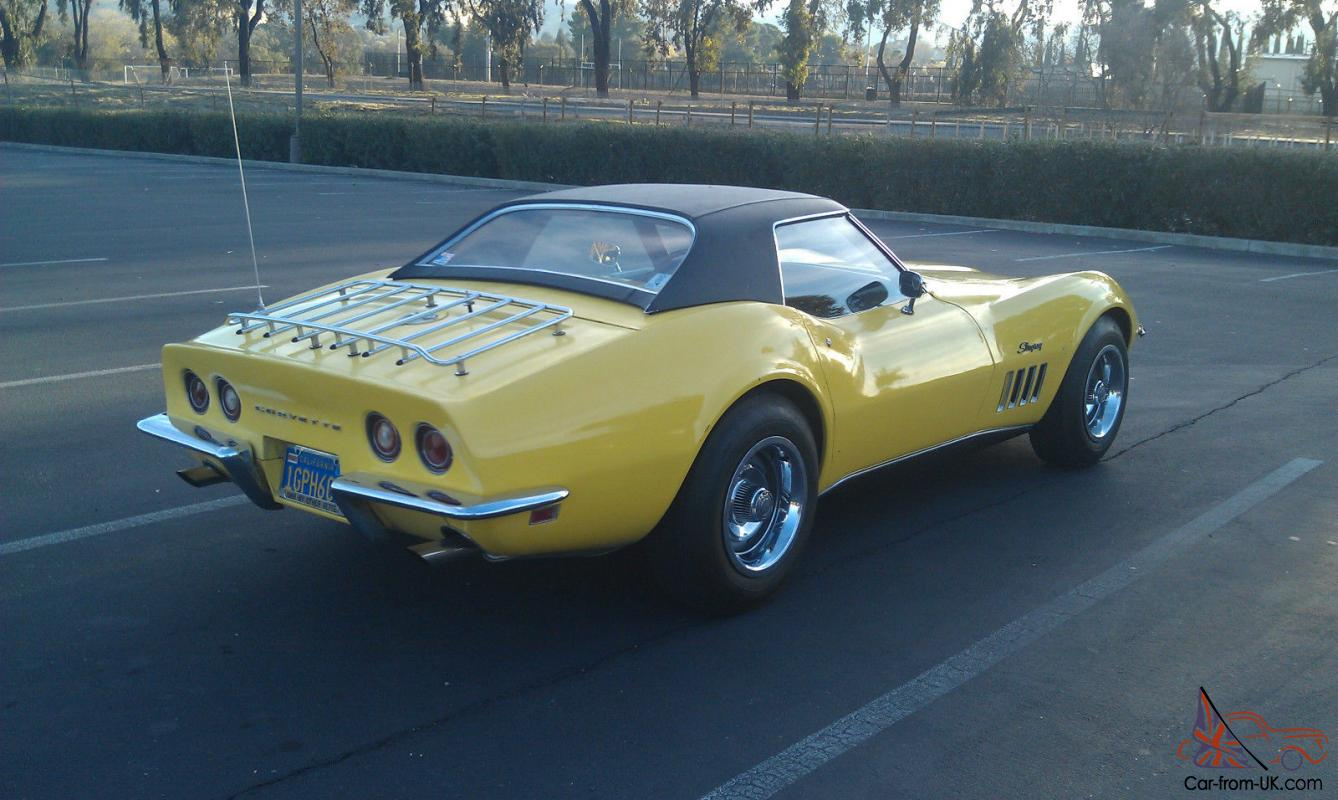 1969 chevy corvette stingray convertible matching 350 300 hp. Black Bedroom Furniture Sets. Home Design Ideas