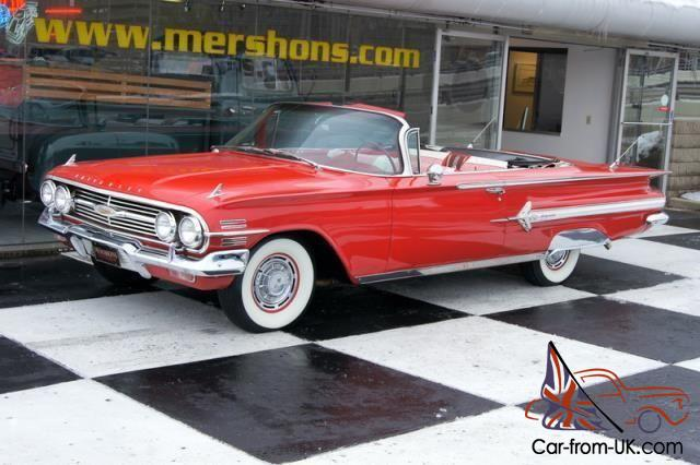 60 Impala Convertible Red On Red 283 Automatic