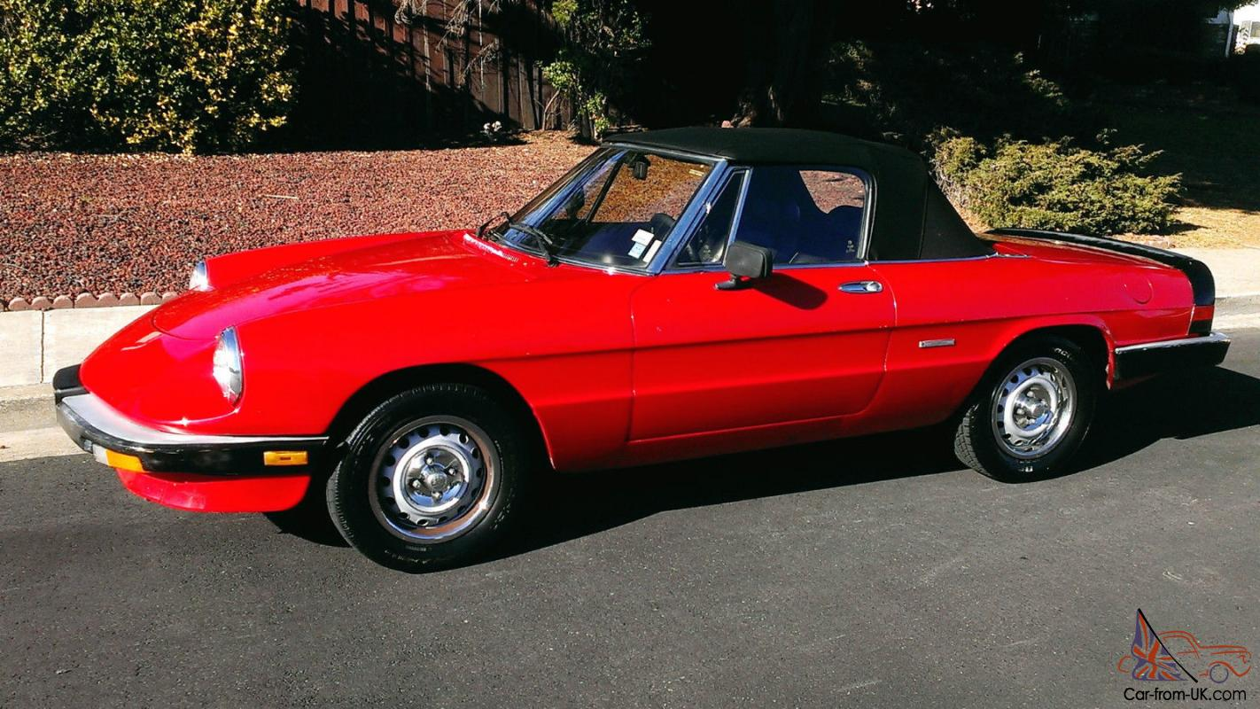 alfa romeo spider 1986 gorgeous sexy red 2 door convertible. Black Bedroom Furniture Sets. Home Design Ideas