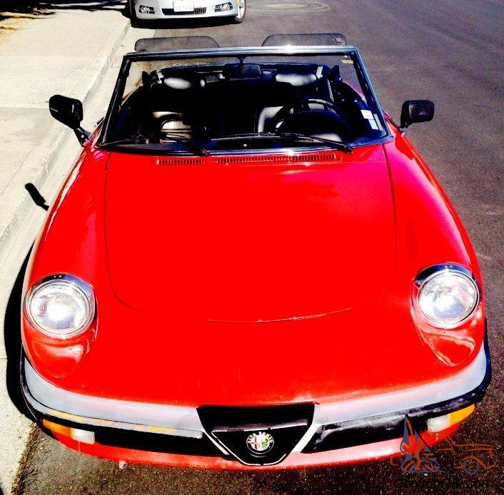 Alfa Romeo Spider 1986 Gorgeous & Sexy Red 2 Door Convertible