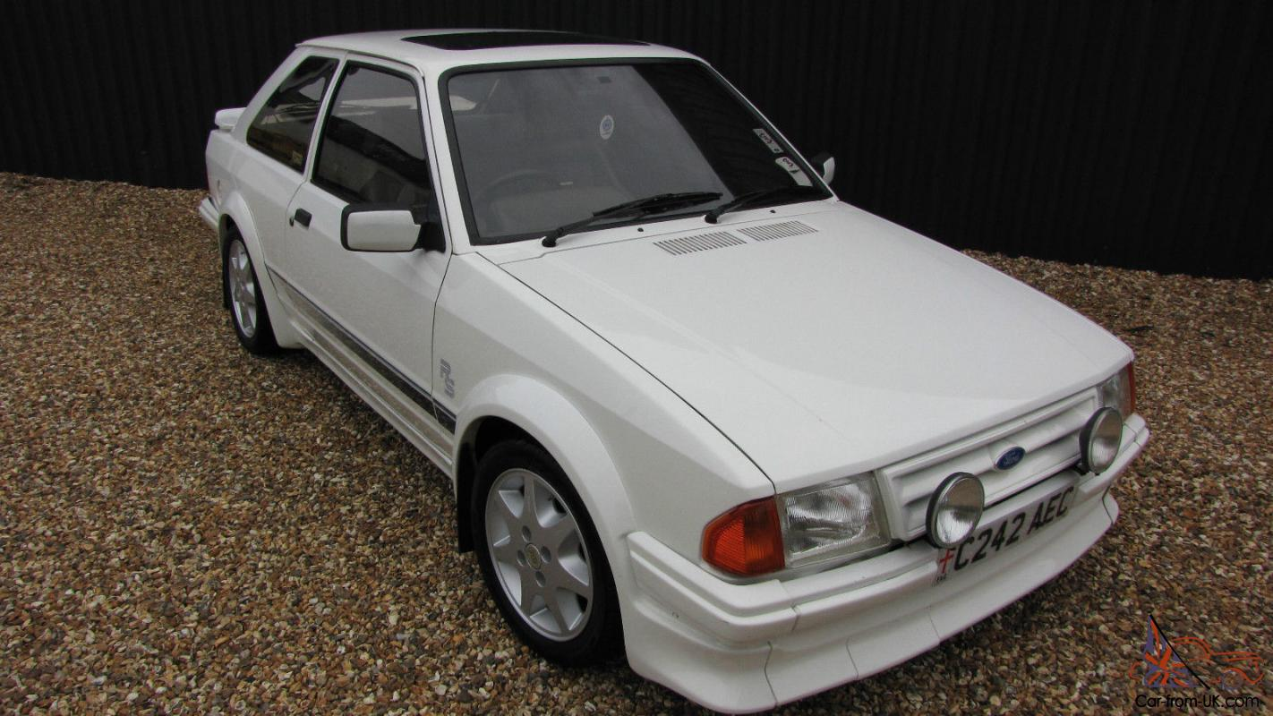 1985 ford escort mk3 series 1 rs turbo white. Black Bedroom Furniture Sets. Home Design Ideas