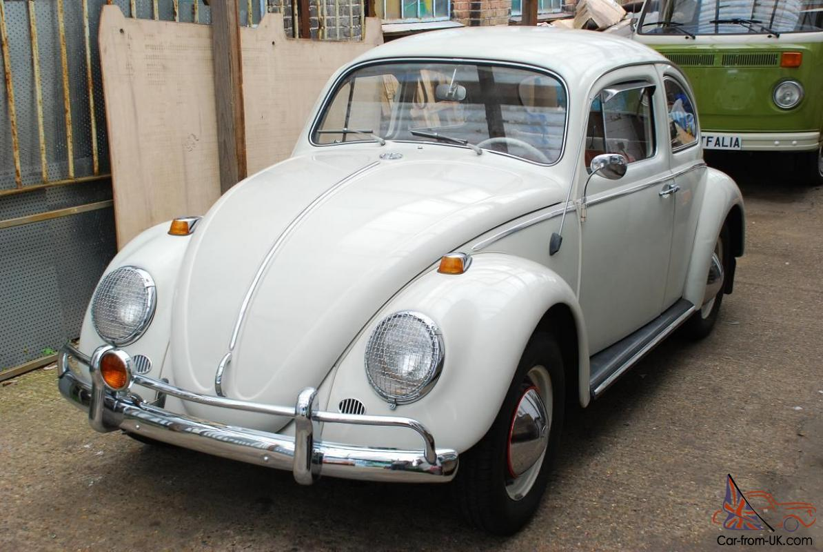 Vw 1964 Beetle Saloon Lhd 1200cc White Mot D With