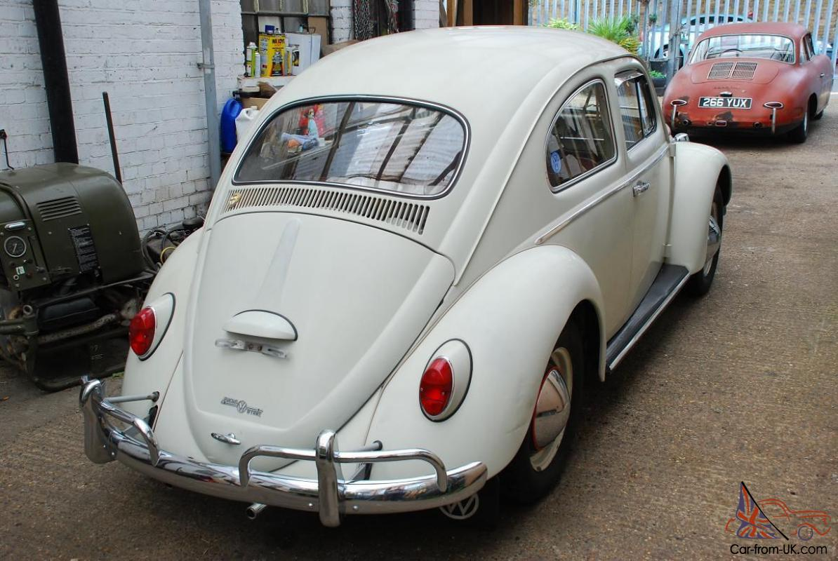 Vw 1964 Beetle Saloon Lhd 1200cc White Mot D With Accessories Amp Original Papers