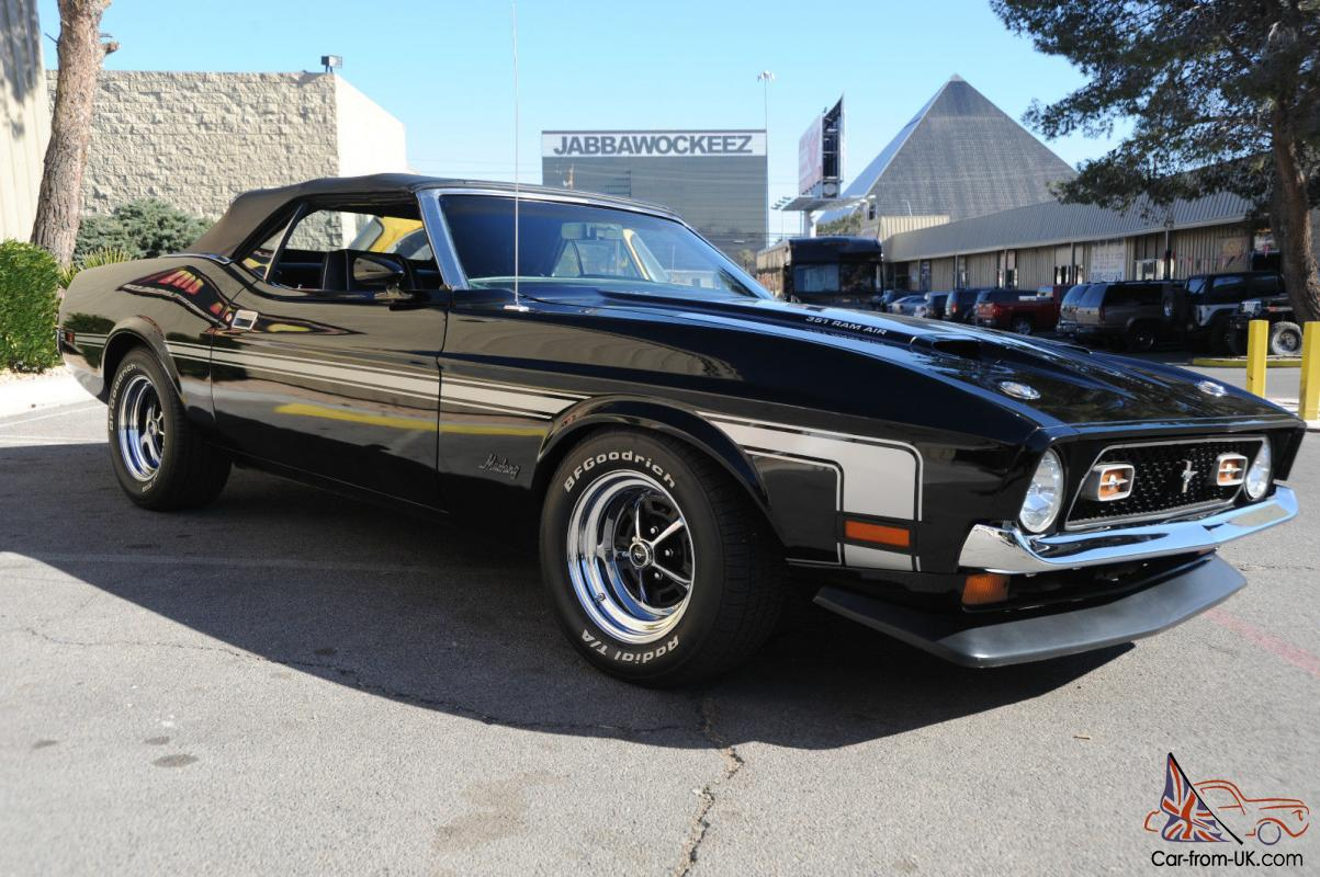 1972 'Mach 1' Ford Mustang Convertible 351 C with BOSS ...