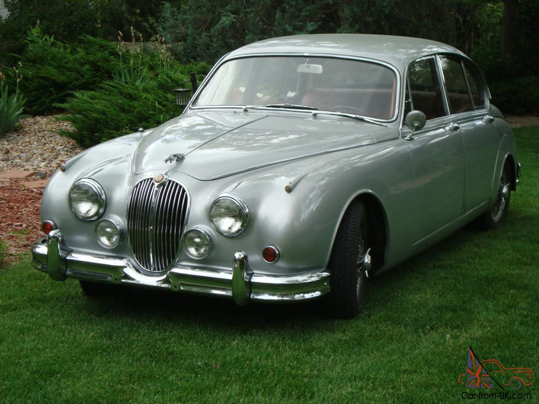 1962 jaguar mk ii mark 2 3 8 4 speed overdrive numbers match ww silver maroon. Black Bedroom Furniture Sets. Home Design Ideas