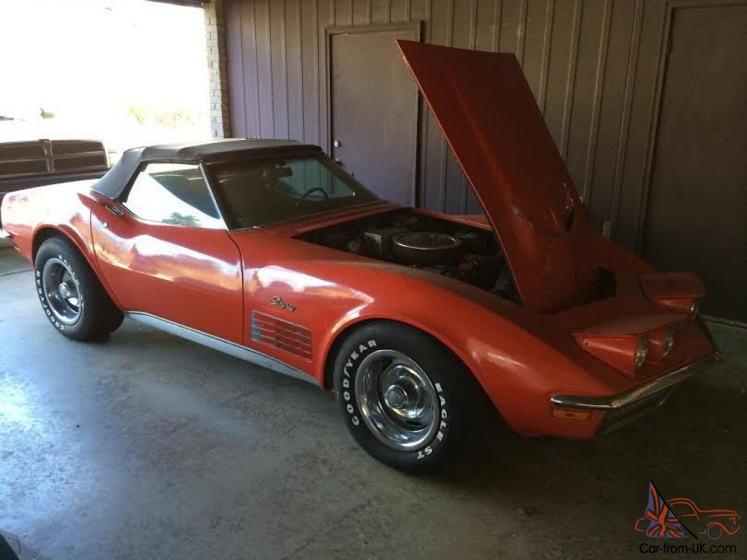 1970 corvette stingray convertible 454 4 speed must see very nice true muscle. Black Bedroom Furniture Sets. Home Design Ideas