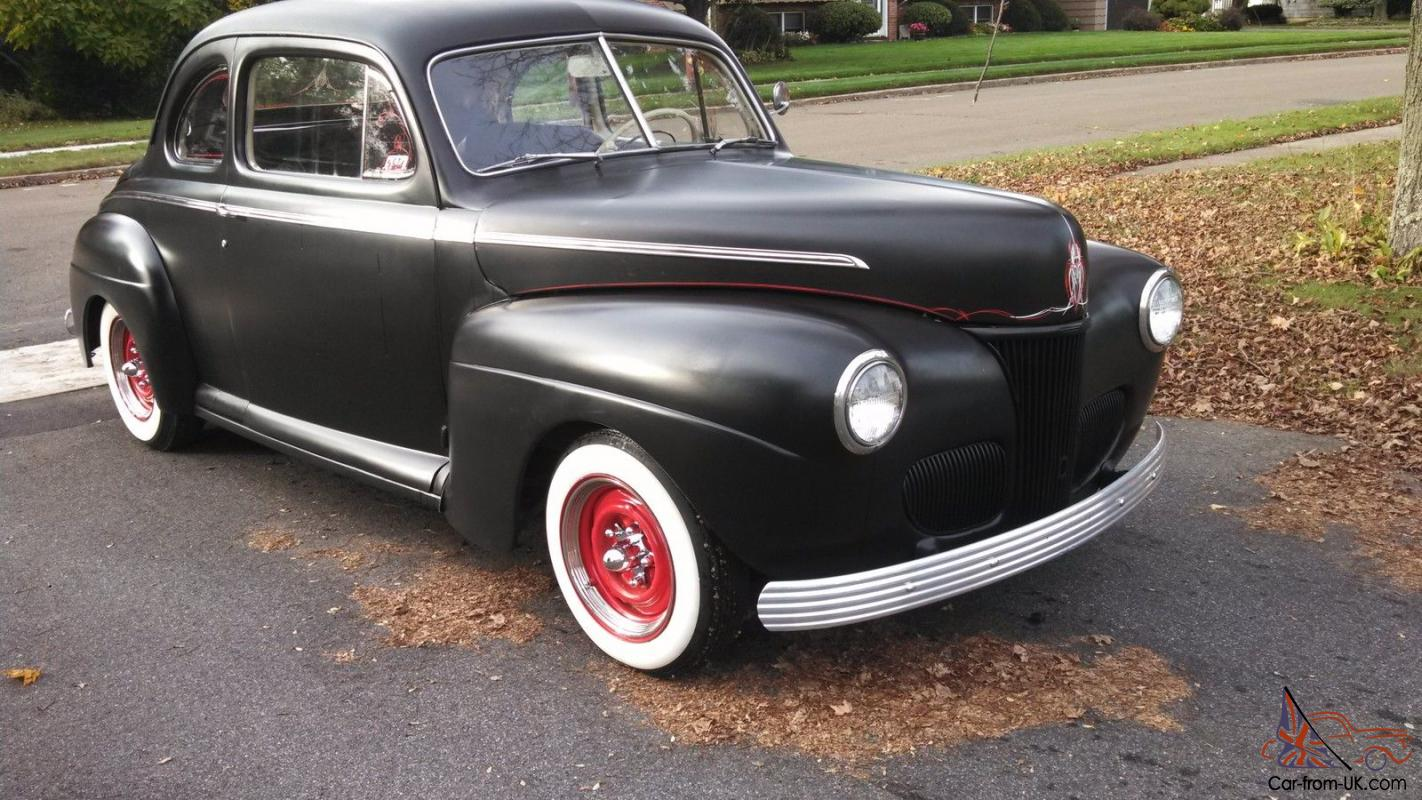1947 FORD 2DR COUPE WITH 41 NOSE OLD SCHOOL STREET ROD HOT ROD!