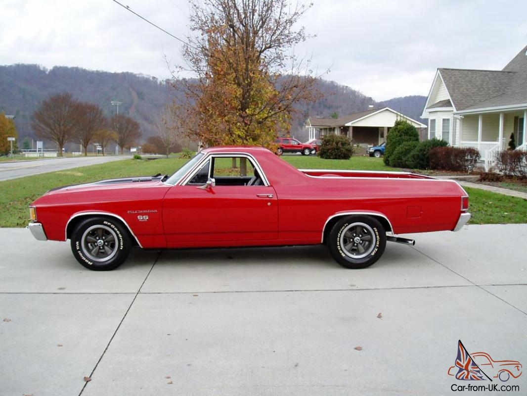 1972 chevrolet el camino ss 454 v8 11k actual miles. Black Bedroom Furniture Sets. Home Design Ideas