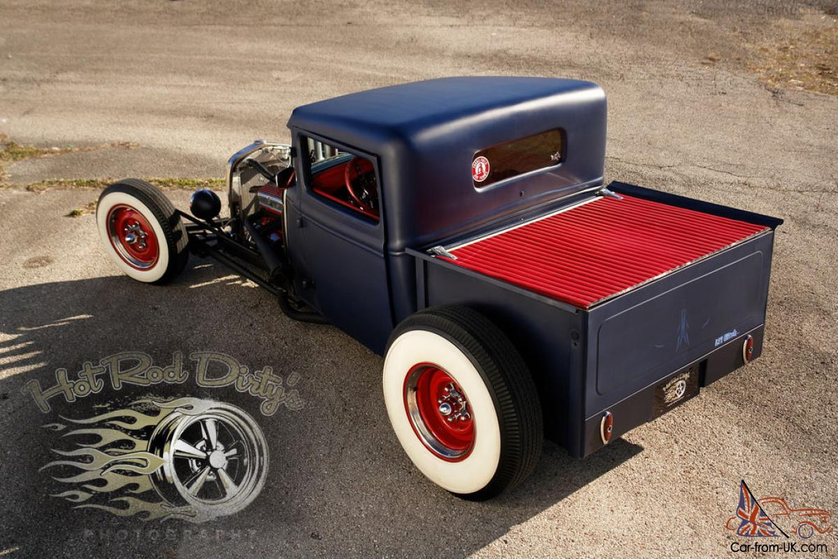 1932 FORD TRADITIONAL HOT ROD RAT CHOPPED PICKUP TRUCK SALT FLATS ...