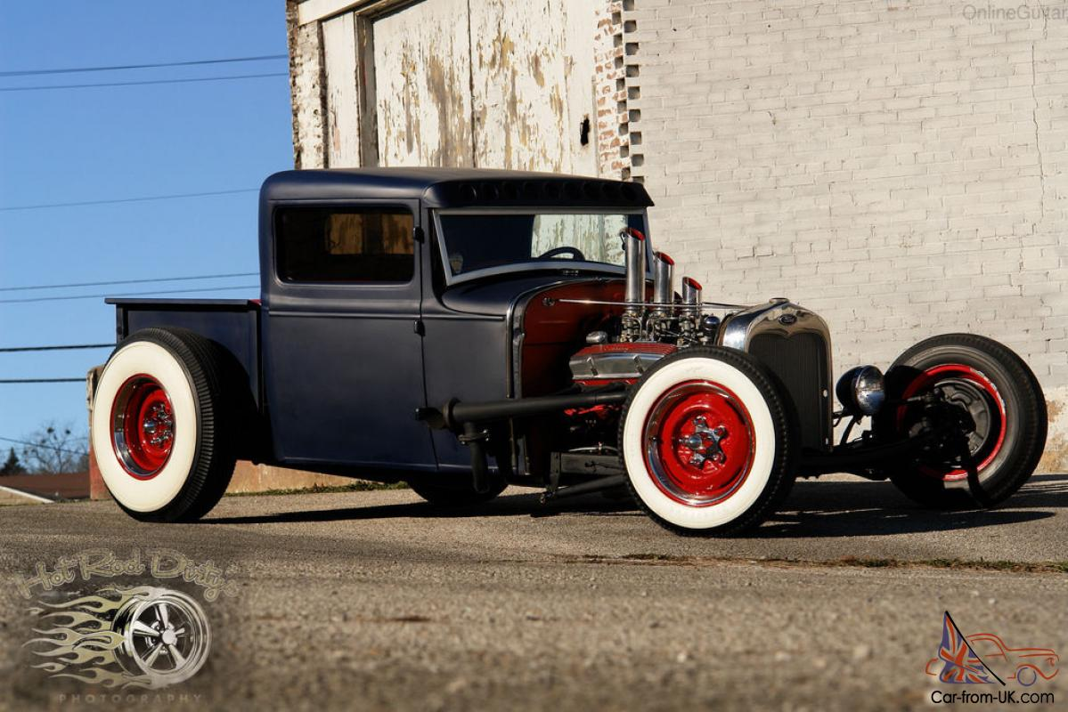 1931 1932 FORD TRADITIONAL HOT ROD RAT CHOPPED PICKUP TRUCK SALT ...