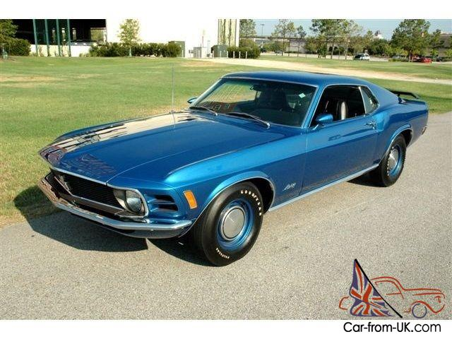 1970 Ford Mustang Mach 1 428 Super Cobra Jet 4 Speed Manual 2 Door Coupe