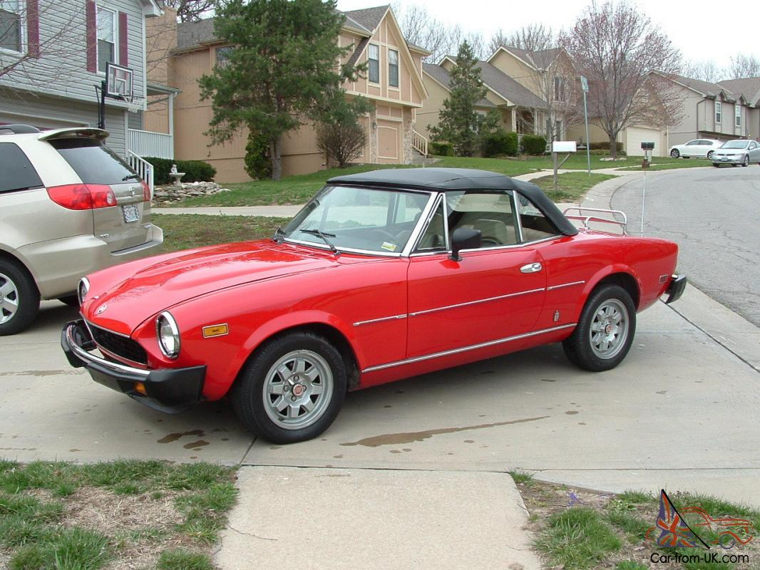 1982 fiat 124 spider convertible 2 door 2 0l. Black Bedroom Furniture Sets. Home Design Ideas