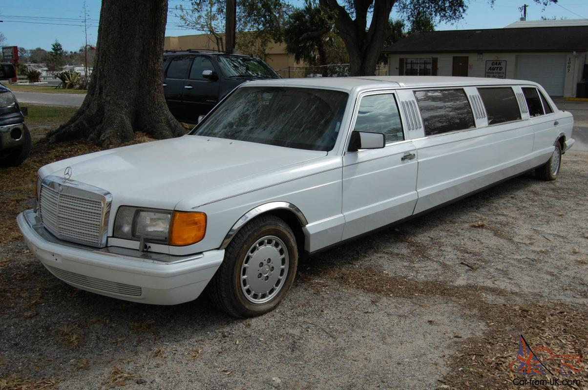 1988 mercedes benz 420sel limo limousine 560sel w126 for Mercedes benz limo