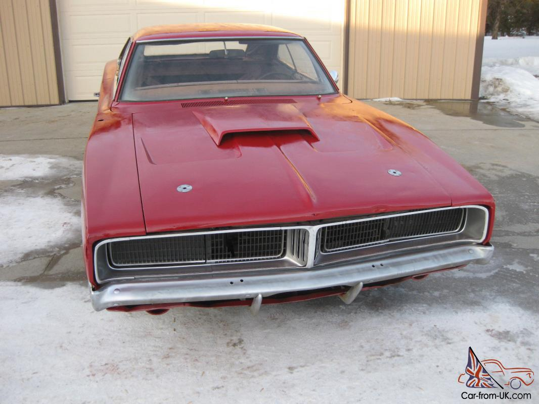 1969 Dodge Charger 4 Speed Project Posi Factory Red With White Interior 68 70