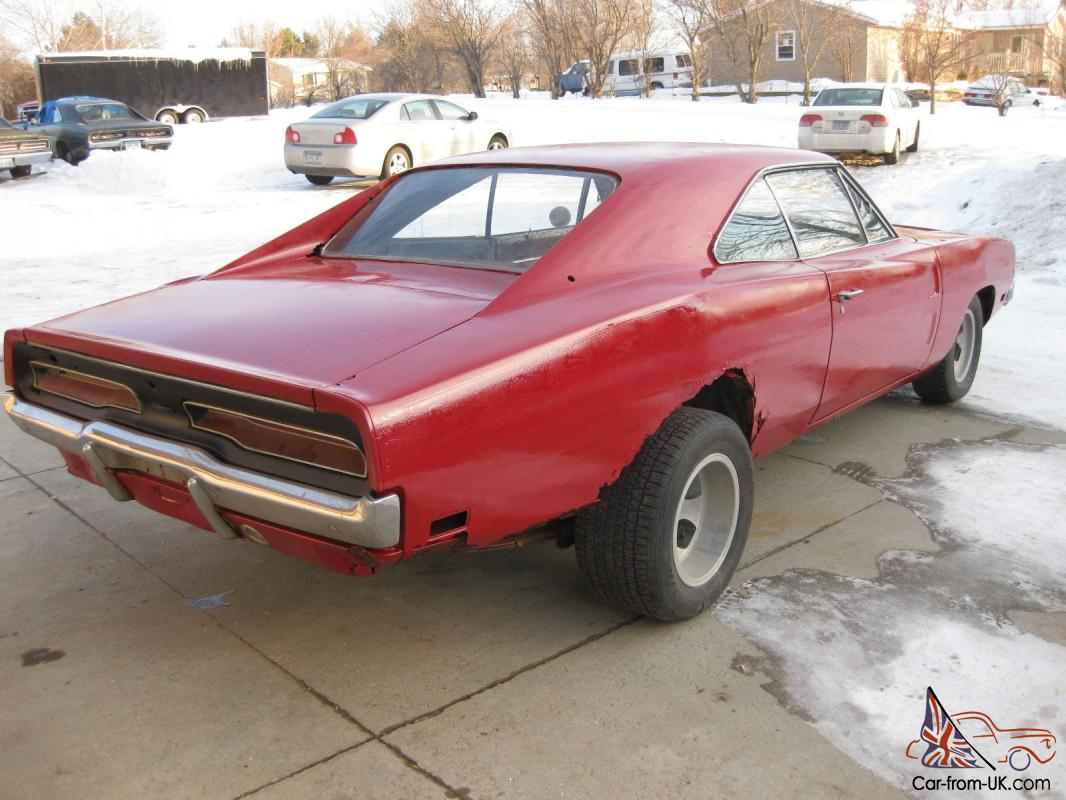 DODGE CHARGER 4 SPEED PROJECT POSI FACTORY RED WITH WHITE INTERIOR 68