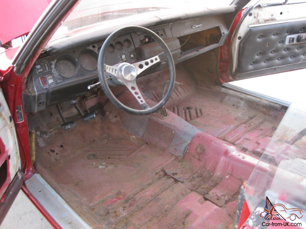 1969 Dodge Charger 4 Speed Project Posi Factory Red With