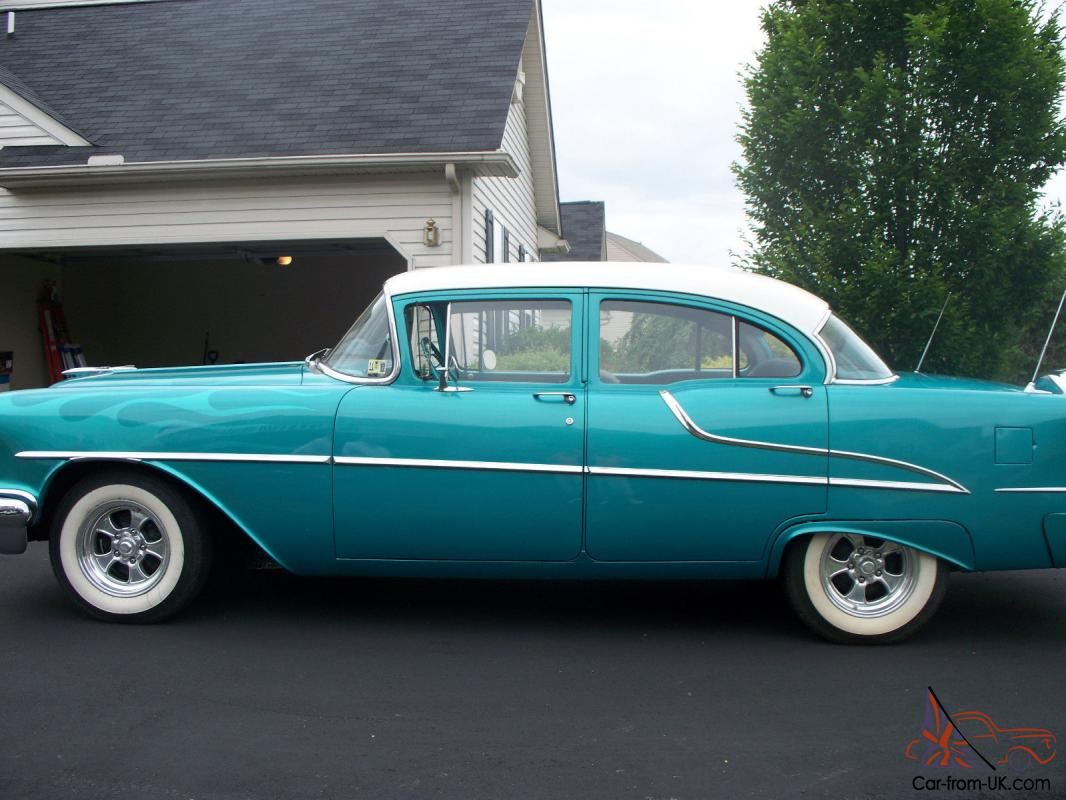 1955 oldsmobile rocket 88 4 door sedan with continental