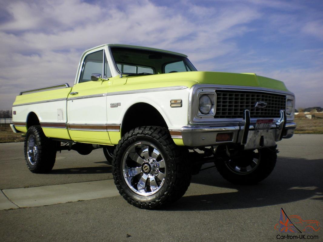 1971 chevy c20 4x4 super cheyenne all restored must see 1972 Chevrolet C20 Pick Up Weight