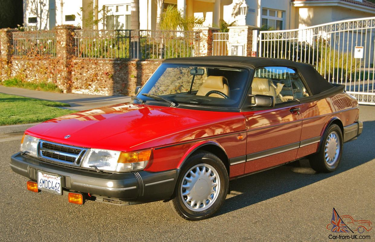 1993 Saab 900 Convertible  Original Excellent Paint  Ca