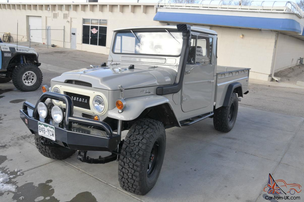 1966 toyota land cruiser fj45 long bed pickup truck