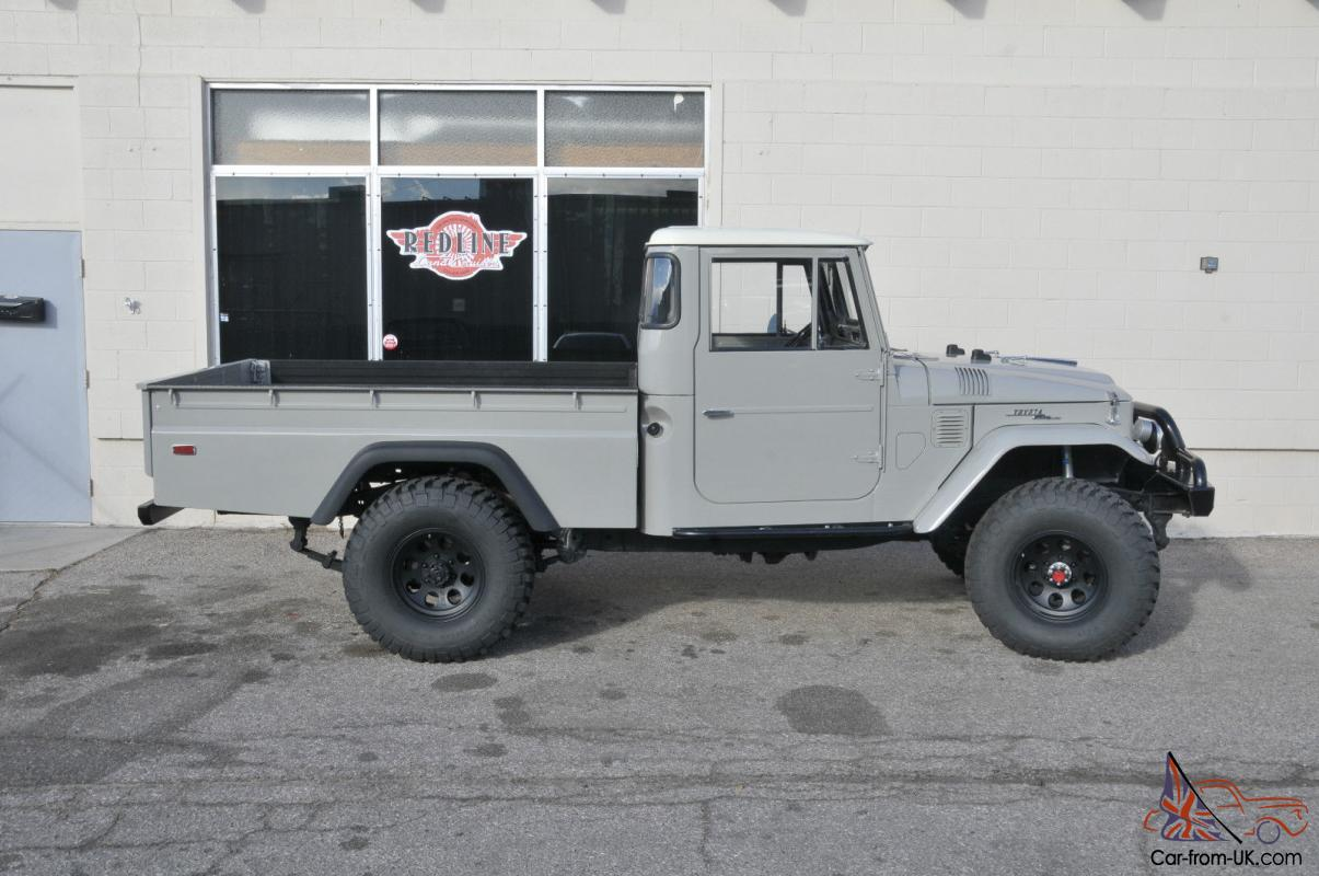 1966 toyota land cruiser fj45 long bed pickup truck fully restored. Black Bedroom Furniture Sets. Home Design Ideas