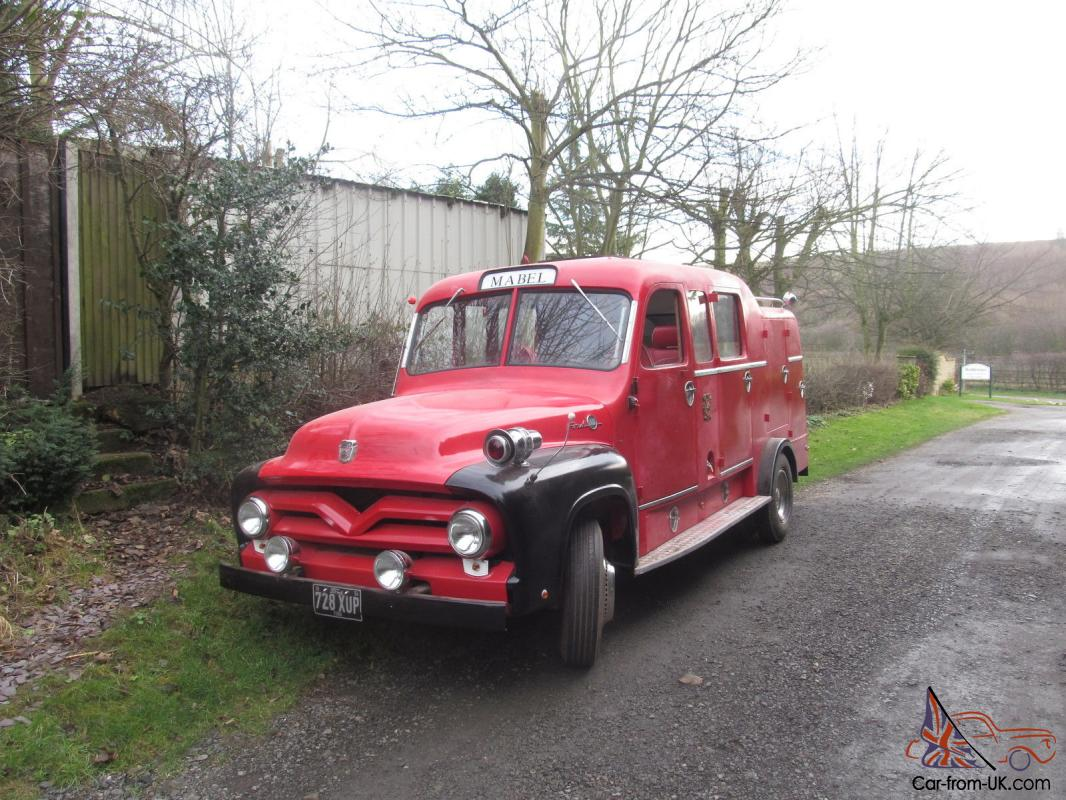 1955 ford f350 splitscreen fire engine camper limo day van classic commercial