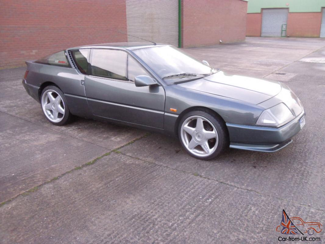 1989 renault alpine gta v6 turbo grey avez 17 alloy wheels 11 months mot. Black Bedroom Furniture Sets. Home Design Ideas