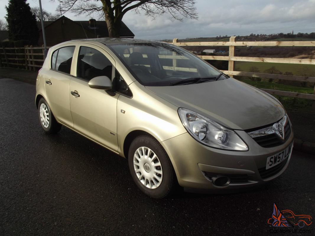 2008 57 vauxhall corsa 1 2 5 door life a c gold 57 000 miles superb part ex. Black Bedroom Furniture Sets. Home Design Ideas
