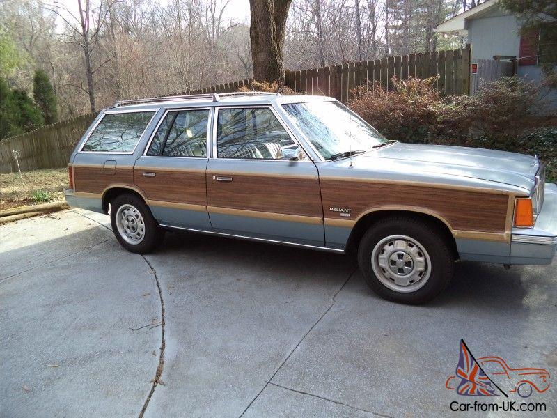 vintage 1981 plymouth reliant sw very nice chrysler k car woody station wagon. Black Bedroom Furniture Sets. Home Design Ideas