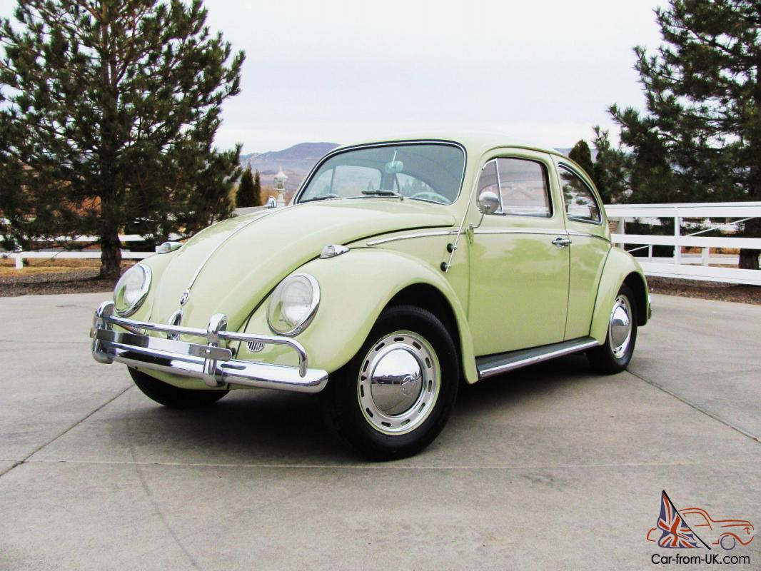 All Original Beryl Green 1962 Volkswagen Vw Beetle Bug 6v Deluxe And Karmann Ghia Engine Electrical System Troubleshooting Wolfsburg Ed 62