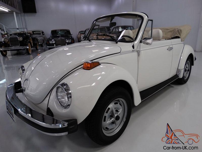 1979 Volkswagen Super Beetle Convertible Service Records