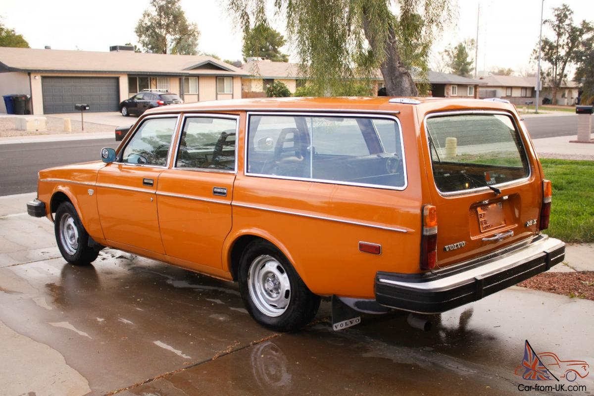 rare 1976 volvo 245 dl station wagon orange. Black Bedroom Furniture Sets. Home Design Ideas