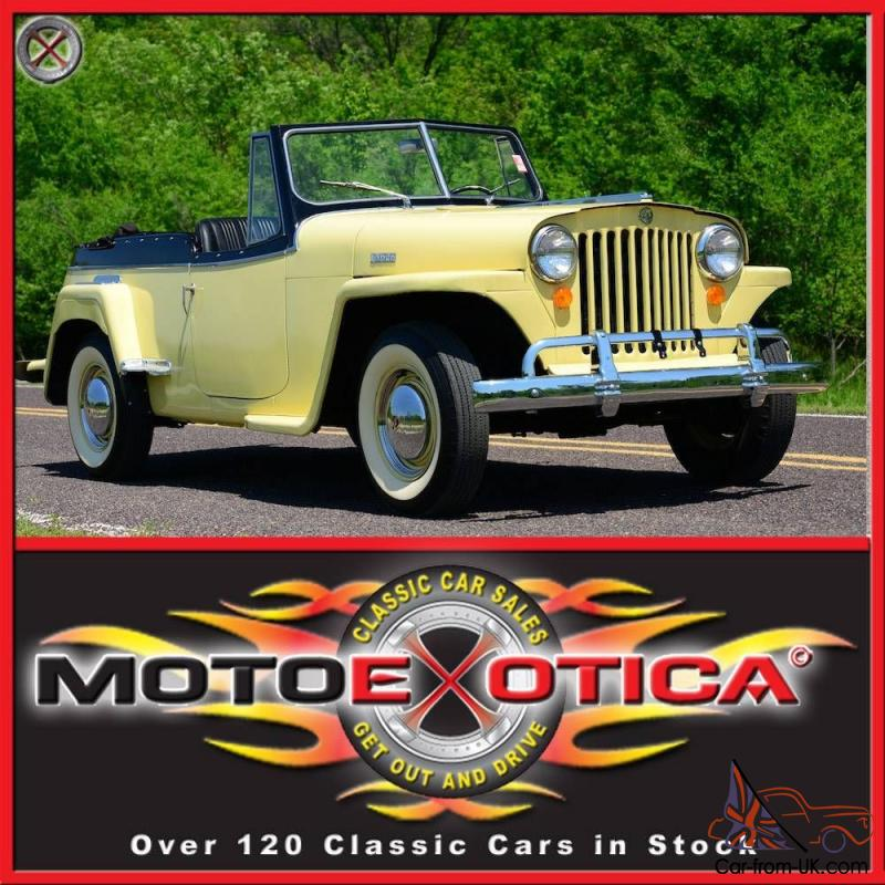 1948 Willys Jeepster Same Owner Since 1970 20k In