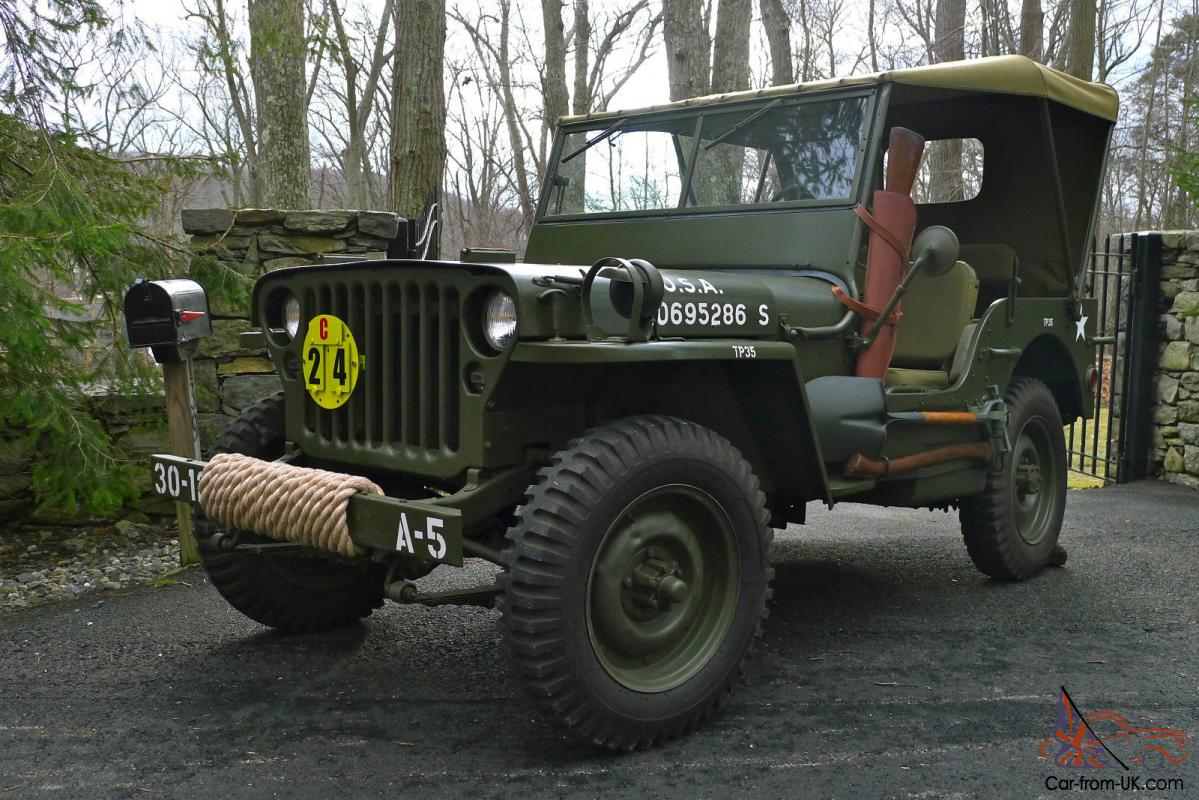 Military Jeep For Sale >> 1945 Willys Mb Wwii Military Jeep Army Antique Classic Fully Restored